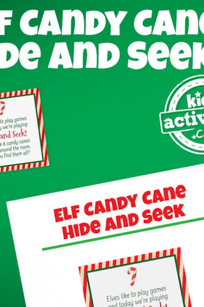 Elf Candy Cane Hide and Seek