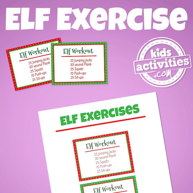 Elf on the Shelf Workout
