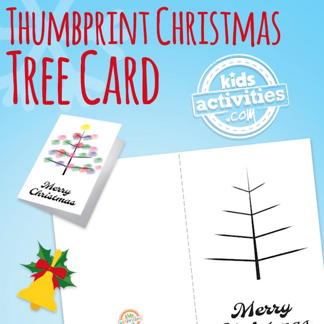 Thumbprint Christmas Tree Card for Kids