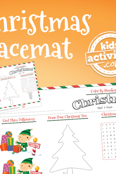 Christmas Coloring Placemat
