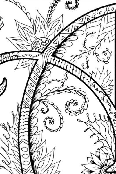 Alphabet Zentangles Coloring Pages for Adults