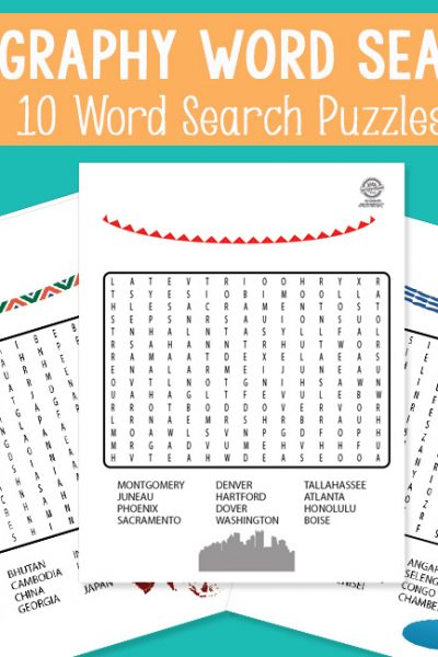 Geography Word Search Puzzles