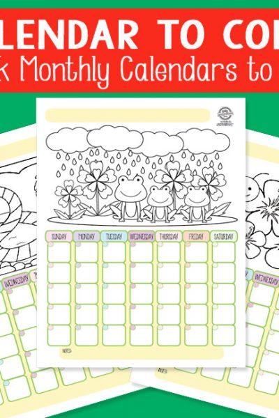 Calendar to Color