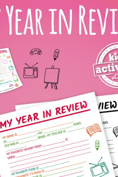My Year In Review New Year's Activity Printable