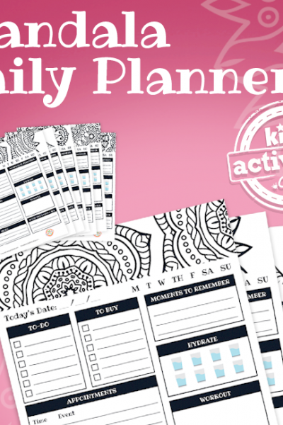 Mandala Coloring Planner Pages