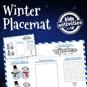 Winter Activity Placemat
