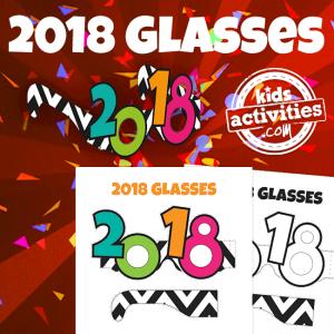 Printable 2018 Glasses for Kids and Adults - Printables.KidsActivities.com