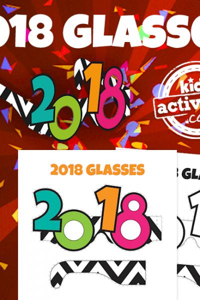 Printable 2018 Glasses
