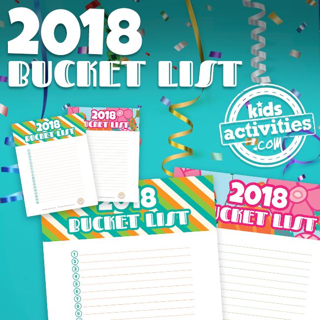 2018 Bucket List Printable