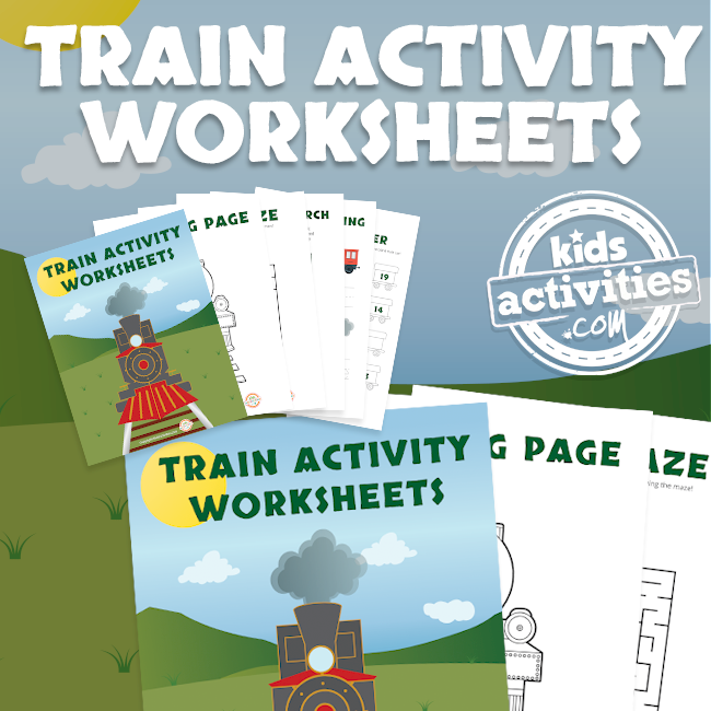 Printable Train Activity Worksheets for Preschool
