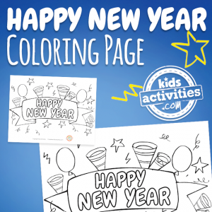 New Year's Coloring Page