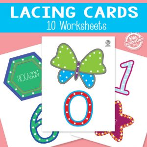 Number and Shape Lacing Cards