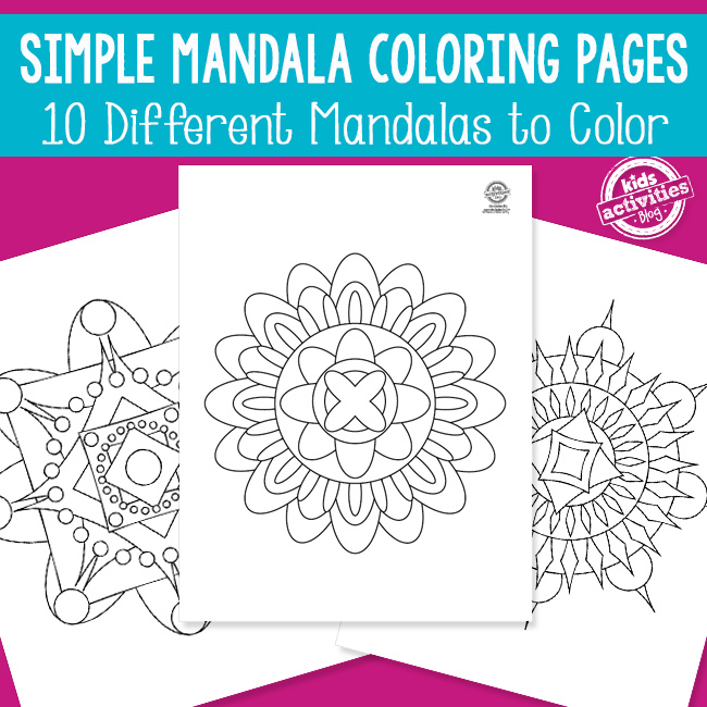 Simplistic Easy Mandala Coloring Pages for Kids and Adults