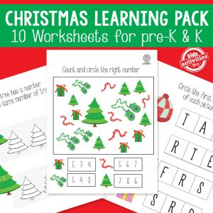Printable Christmas Activity Packet for Kids