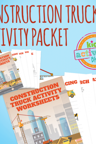 Construction Truck Activity Book