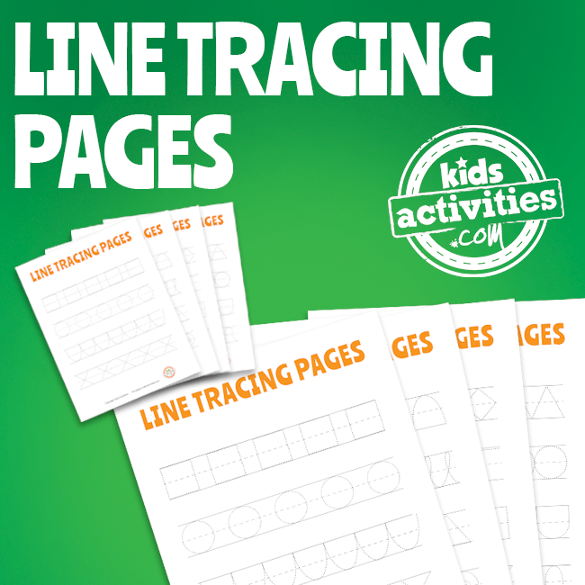 Printable Line Tracing Pages for Kids