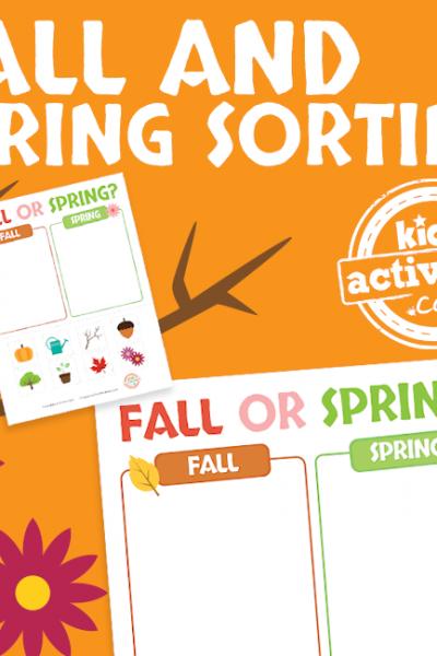 Fall or Spring Sorting Printable