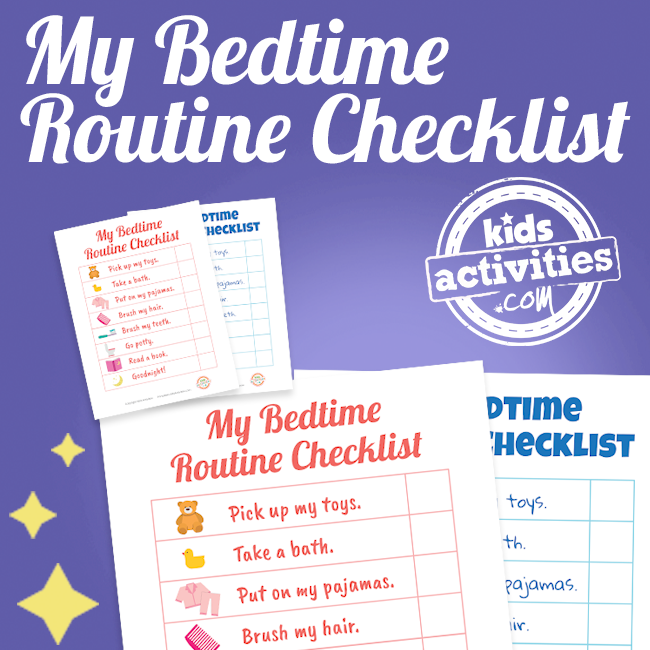 My Bedtime Routine Printable Checklist - Printables.KidsActivities.com