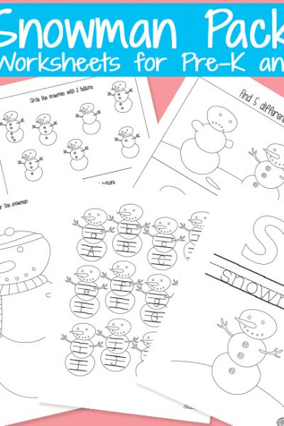 Snowman Printables Activity Pack