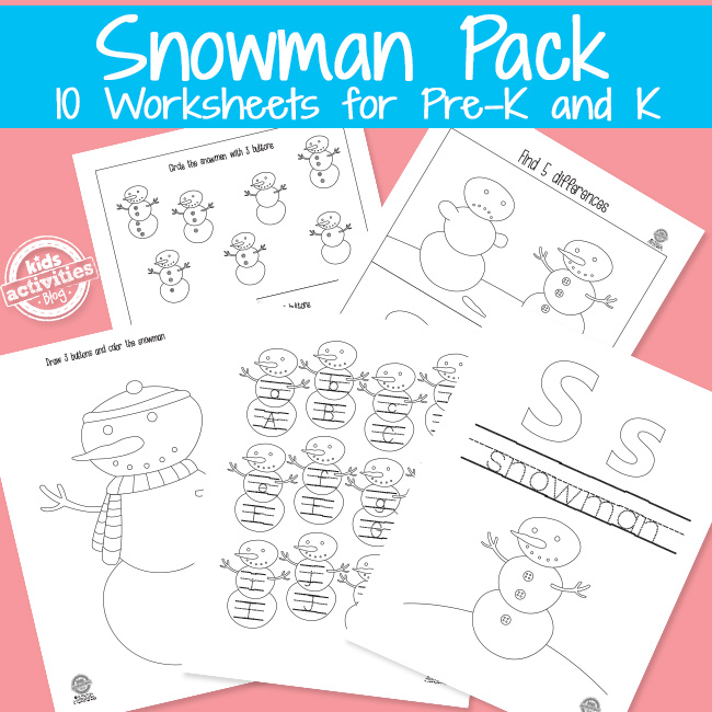 Printable Snowman Printables Activity Pack