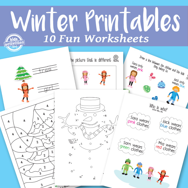 Printable Winter Printables Activity Pack