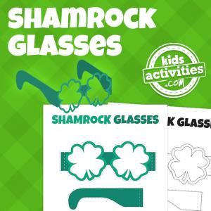 PrintableSt. Patrick's Day Shamrock Glasses