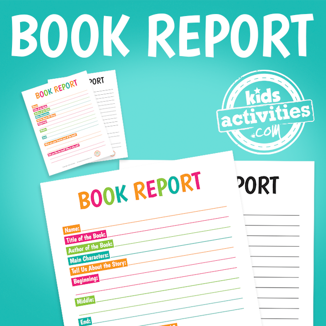 Book Report Worksheets The Printables Library At Kidsactivities