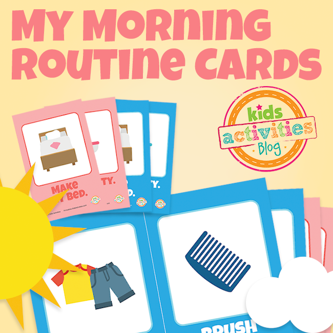 Printable Morning Routine Flip Cards for Boys and Girls