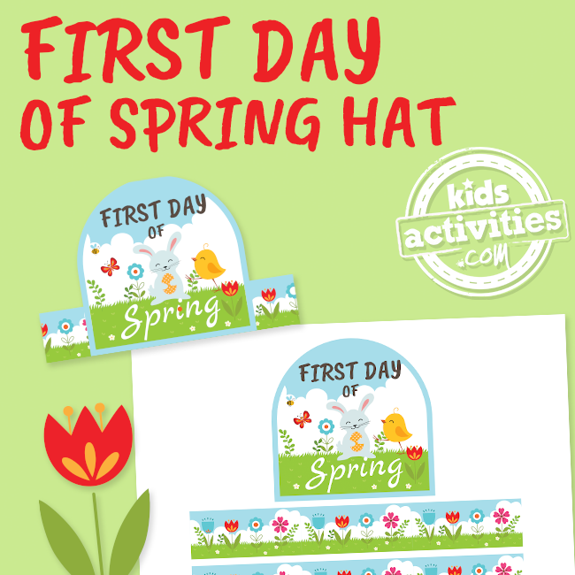 Printable First Day of Spring Hat Headband Craft