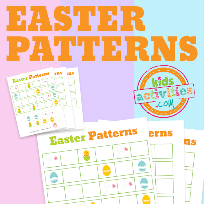 Printable Easter Patterning Worksheets for Preschool