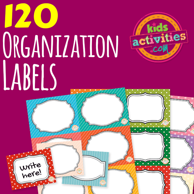 120 Printable Organization Labels for Home and School - Printables.KidsActivities.com