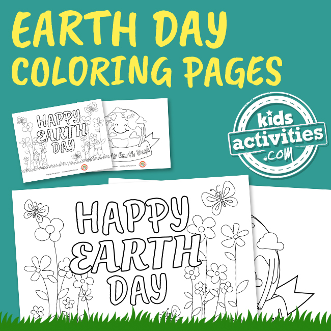 Earth Day Coloring Pages for Kids - Printables.KidsActivities.com