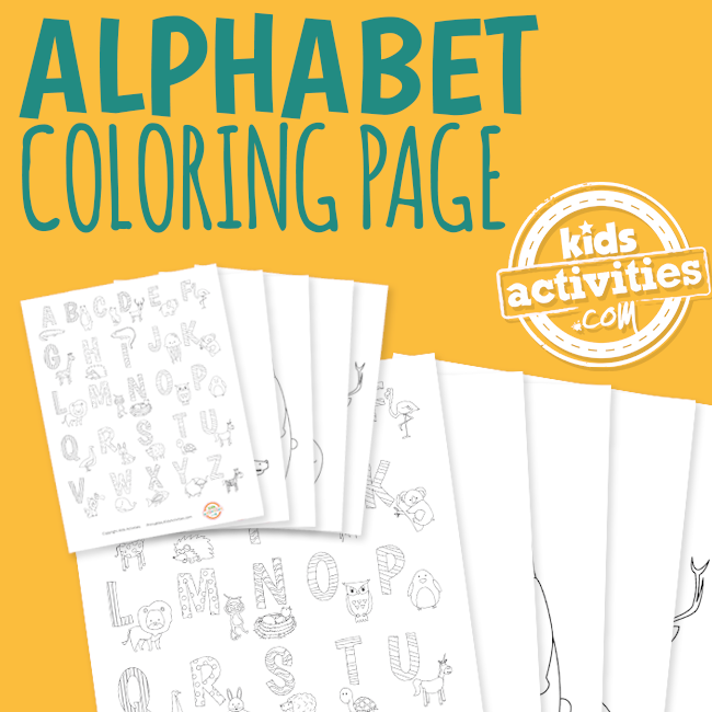 Alphabet Animal Coloring Pages for Kids - The Printables Library at KidsActivities.com