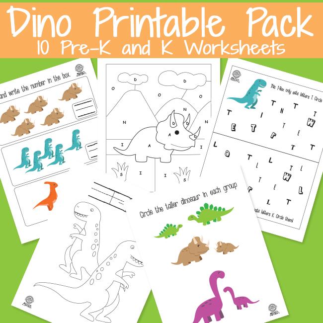 Dinosaur Activity Pack for Preschoolers
