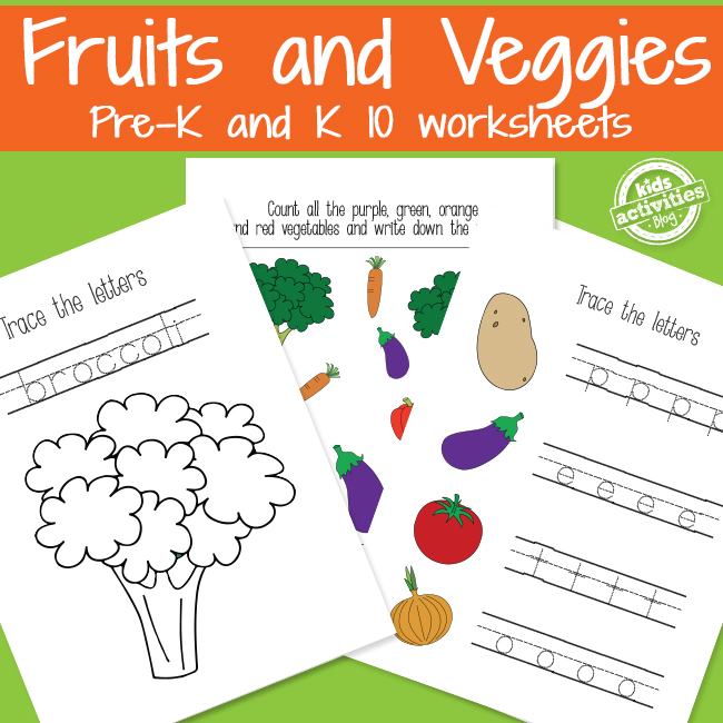 Learning with Fruits and Vegetables Worksheets