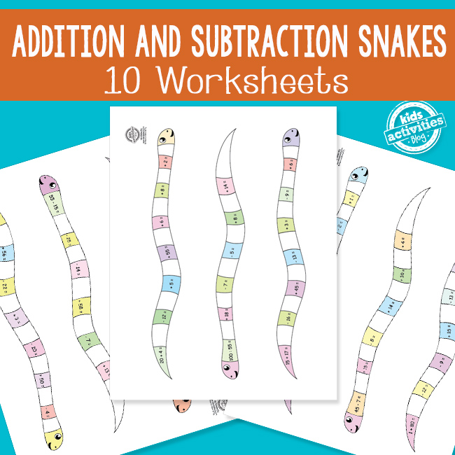 Addition and Subtraction Snakes for Math Practice