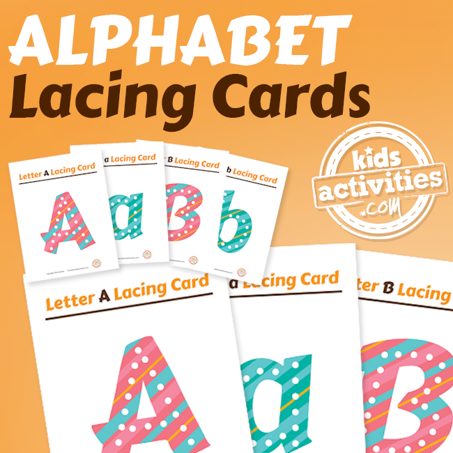 Alphabet Lacing Cards for Kids