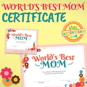 Mother's Day World's Best Mom Certificate