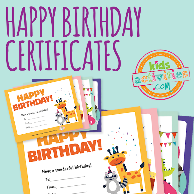 happy birthday certificates the printables library