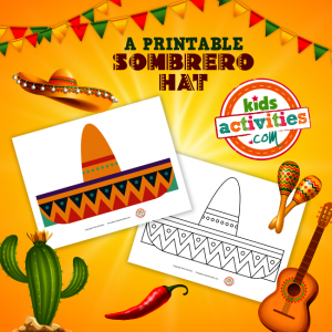 Sombrero Hat Craft Printable