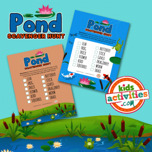 Pond Scavenger Hunt for Kids