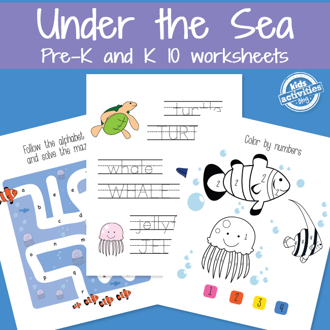Learning with Sea Animals - Printables.KidsActivities.com