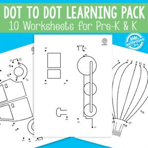Transportation Dot to Dot Worksheets