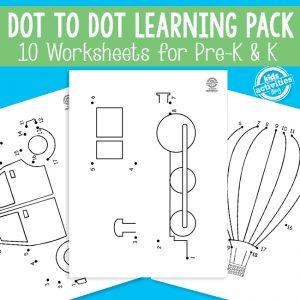 Transportation Dot to Dot Worksheets