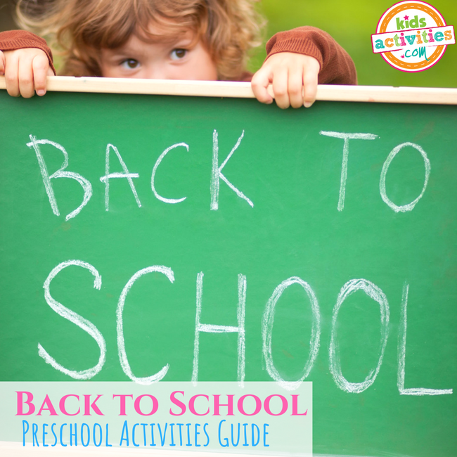 Back to School Preschool Activities Guide - Printables.KidsActivities.com
