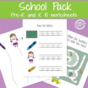 Let's Go to Preschool Worksheets
