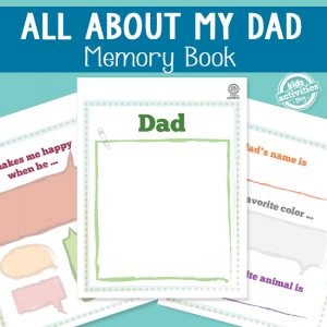 All About My Dad Memory Book