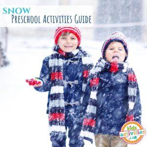 Snow Preschool Activities Guide - Printables.KidsActivities.com