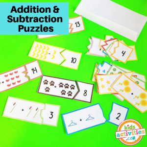 Printable Addition & Subtraction Math Puzzles